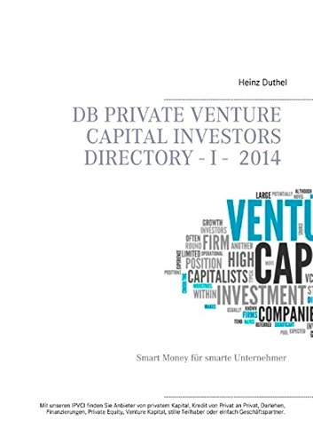 Buchcover: DB Private Venture Capital Investors Directory  I - 2014: Smart Money für smarte Unternehmer