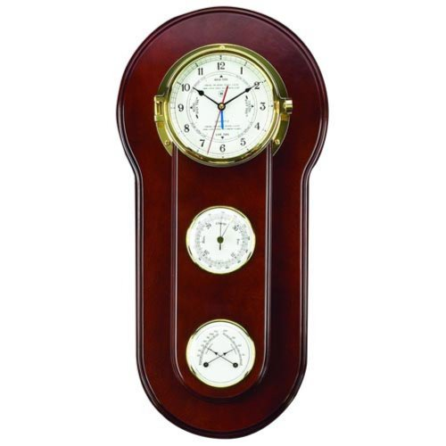 Bey-Berk International Ramah Time and Tide Wall Clock - 11.75 Inches Wide