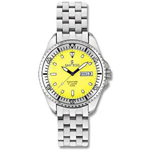 Men's Self - Winding Sartego Ocean Master Watch Yellow Dial