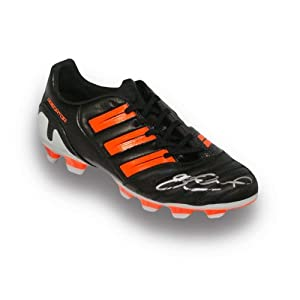 Steven Gerrard Signed Adidas Boot Black And Orange by Exclusive Memorabilia