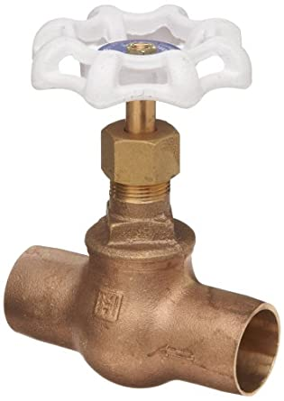 Milwaukee Valve UP1502 Series Bronze Globe Valve, Potable Water Service, Inline, Threaded Bonnet, Solder End