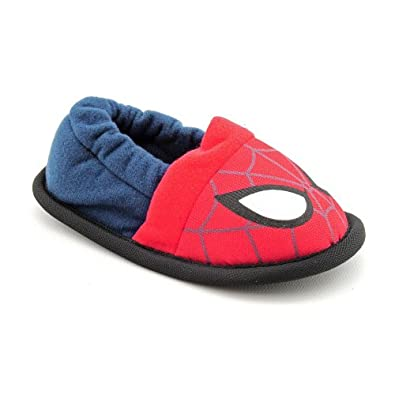 Marvel Spider-Man Web Crawler Slippers Toddler Boys Size 11 Red Fits sizes 11-12