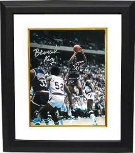 Bernard King signed New York Knicks 8x10 Photo Custom Framed (HOF 2013-silver sig) by Athlon Sports Collectibles