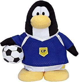 Disney Club Penguin 6.5 Inch Series 6 Plush Figure Soccer Player Purple Jersey Includes Coin with Code! by Club Penguin