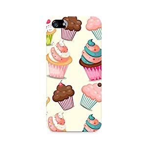 Mobicture Cute Cupcakes Printed Phone Case for Apple iPhone 5/5s/SE