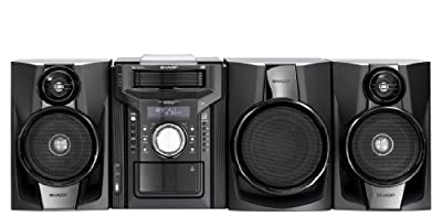 Sharp CD-DHS1050P 350 Watt RMS iPod Supported Mini Hi-Fi System - Black