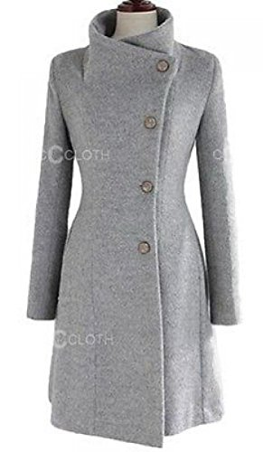 HKJIEVSHOP Vintage Party Ladies Upright Collar Belted Coat Jacket