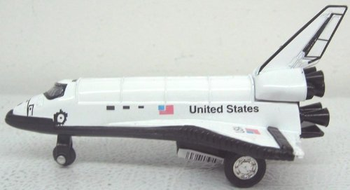 "5"" Space Shuttle Diecast Pullback Toy USA NASA"