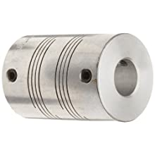 Ruland FSMR Set Screw Beam Coupling, Polished Aluminum, Metric