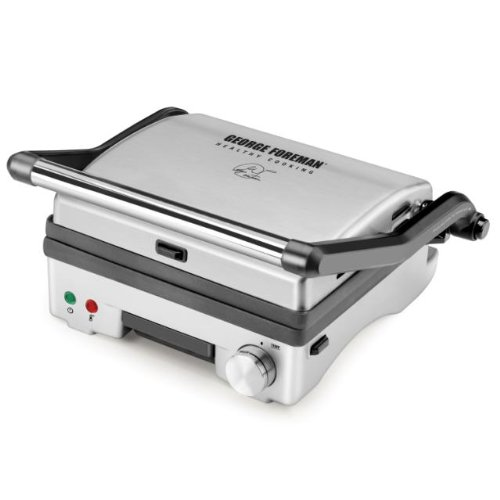 George Foreman GR0742S 3-in-1 Panini Press, Grill and Open Griddle with Double Cooking Surface
