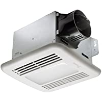 Delta Breez GBR80LED GreenBuilder Series 80 CFM Ceiling Exhaust Bath Fan with LED Light