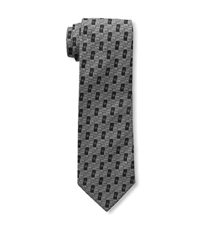 Isaia Men's Patterned Tie, Gray