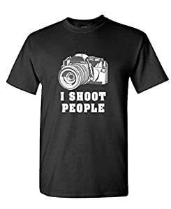 THE GOOZLER - I SHOOT PEOPLE - Mens Cotton T-Shirt