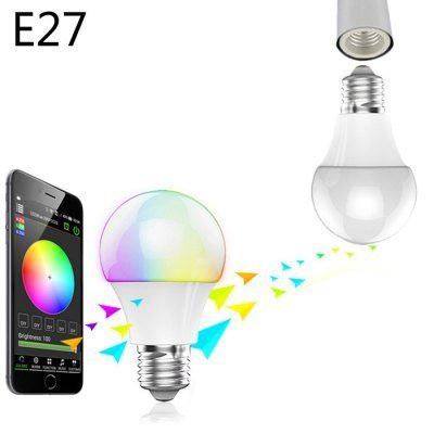 Magic Blue Uu E27 Bulb Bluetooth 4.0 Intelligent Voice Music Sensors 16 Million RGB Light Sleeping Lamp