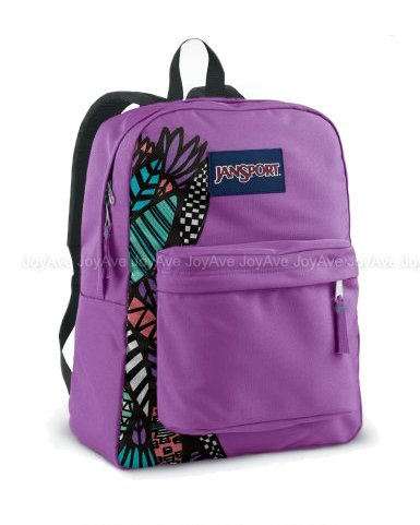 JANSPORT SUPERBREAK BACKPACK SCHOOL BAG – Purple Slick/Multi Ambush ...
