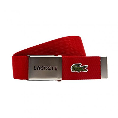 LACOSTE Gift Box Woven Strap W110 Red