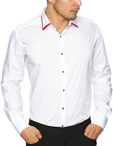 Lagerfeld Ultra Double Collar Men's Shirt Cherry 40 IN