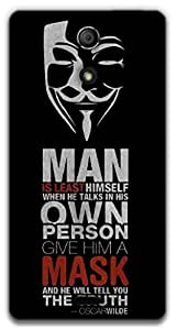 The Racoon Lean Anonymous Quotes hard plastic printed back case / cover for Sony Xperia ZR