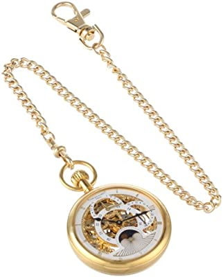 Charles-Hubert Pocket Watch 3816 Gold Plated Dual Time Open face