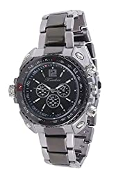 Timebre Men Imperial Black Steel Analog Watch