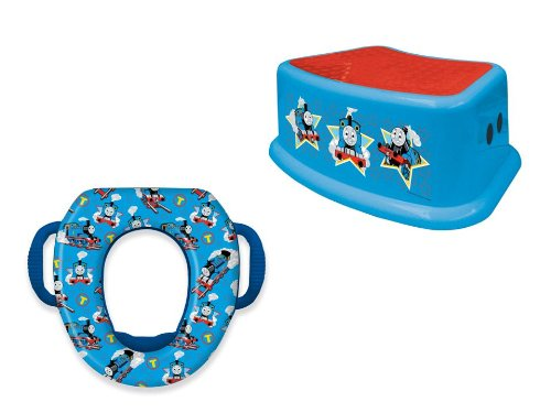 Thomas and Friends Potty and Step Stool Combo Set, Blue