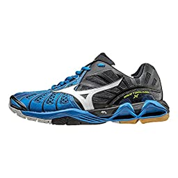 Mizuno Men\'s Wave Tornado X-M Volleyball Shoe, Directoire Blue/Black, 9.5 D US