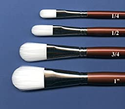 Robert Simmons White Sable Short Handle Brushes 3/4 in. oval wash 752