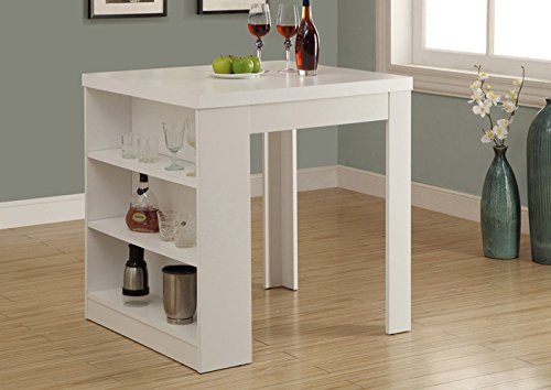 """WHITE HOLLOW-CORE 32""""X 36"""" COUNTER HEIGHT TABLE (SIZE: 36L X 31W X 36H)"""