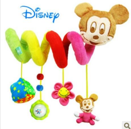Disney Mickey Music Turning Around Bed Bell Hanging Car Seat Toys
