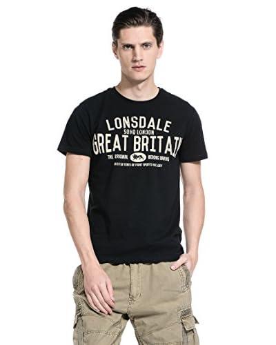 Lonsdale Camiseta Manga Corta Randwick Negro