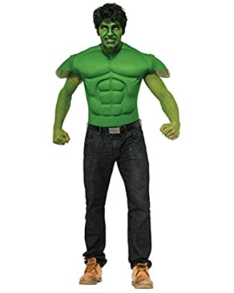 Rubie's Costume Men's Marvel Universe Hulk Muscle Chest T-Shirt and Eye Mask