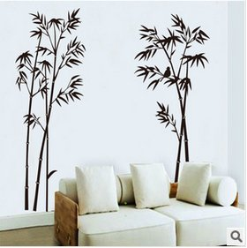 Bamboo Art Wall Sticker Paper Mural Removable Craft Decal Office Home Livingroom Decor By