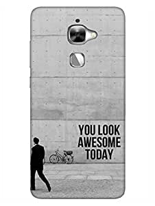 Be Awesome Today - Hard Back Case Cover for LeEco Le2/ Let V 2 Pro - Superior Matte Finish - HD Printed Cases and Covers