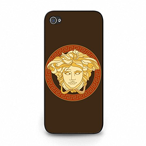 Iphone 5c Cover Shell Luxury Versace Logo Phone Case Snap on Iphone 5c Classical Visual Versace Design Back Cover