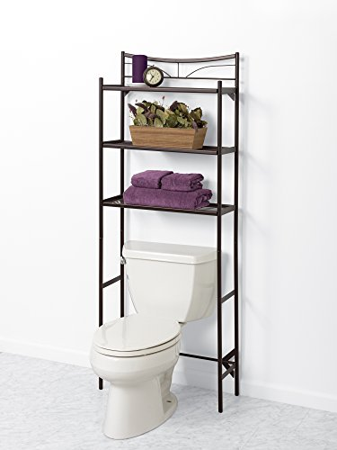 Zenna home 2723hb hawthorne bathroom spacesaver bronze for Chapter bathroom space saver white assembly instructions