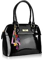 Ladies Faux Leather Patent/Matte Fashion Tote Bags Shoulder Fashion Handbag