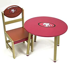 San Francisco 49ers Wooden Team Table