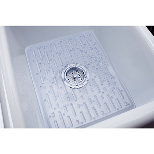 Rubbermaid Kitchen Sink Accessories: Rubbermaid Evolution Antimicrobial Sink Mat, Large, Clear