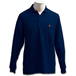 Prancing Horse long sleeve polo - Blue (M)