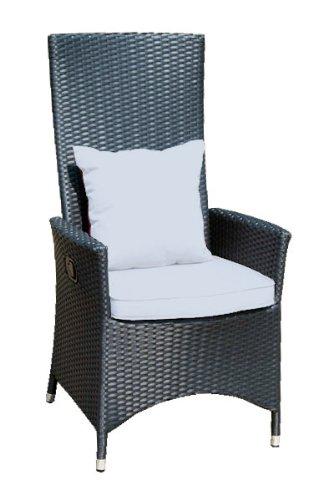 Ambientehome verstellbarer Polyrattan Sessel Stuhl Nairobi, schwarz online kaufen