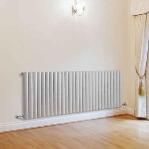 Milano Aruba - White Designer Radiator - Curved Panels - Luxury Central Heating Vertical 'Oval' Columns - 635mm x 1647mm