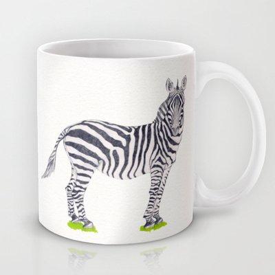 Society6 - Zebra Sketch Coffee Mug By Floating Lemons