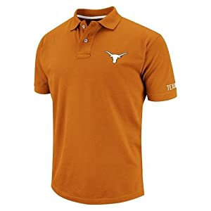 NCAA Texas Longhorns Lakeside Polo - Burnt Orange by Colosseum