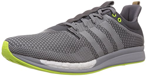 adidas Men's Adizero Feather Boost M Grey and Off White Mesh Running Shoes - 7 UK  available at amazon for Rs.6299