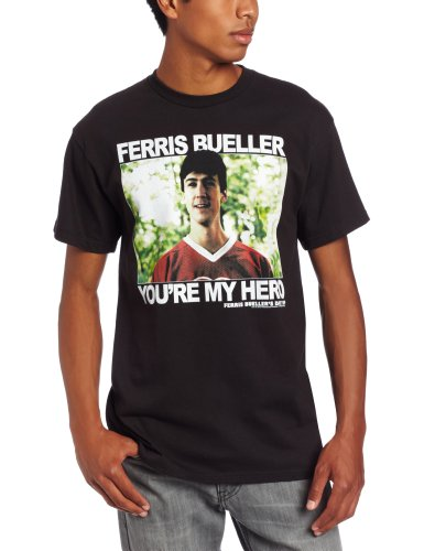 Men's Ferris Bueller You're My Hero T-shirt. Black, XXL.