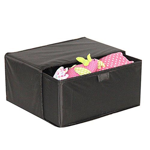 Mondex EVE728-01 Boîte de Rangement avec Tiroir Tissu/Plastique Noir 44 x 20 x 3 cm