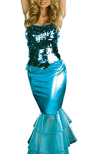 Casefan Women's Sexy Cosplay Costume Skirt Tail The Little Mermaid Dress