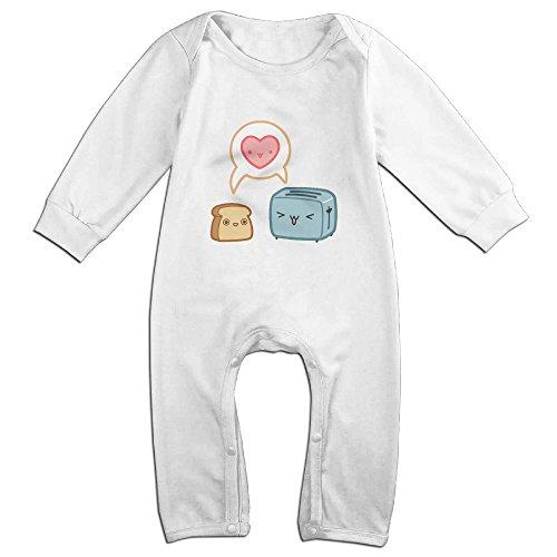 Posit-Babys-Kawaii-Love-Toast-Boys-Girls-Kids-Creeper-Romper-Bodysuits-Jumpsuits-Size-US-White