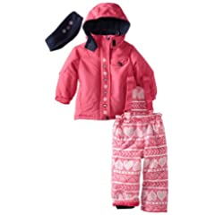 Pink Platinum Girls 2-6X Heart Printed Snowsuit