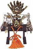 木目込人形 手づくり お雛様用お道具 【東芸】飾天冠・木製黒台付 9818